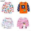 Vidmid 1-6a bebé t-shirt das meninas camisas crianças blusa primavera outono camisa dos miúdos t para meninas dos desenhos animados de algodão de manga longa