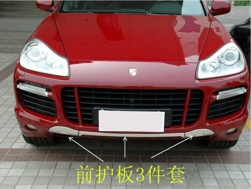 Front + Rear Bumper Lip Diffuser Protector Guard Skid Plate For Porsche Cayenne 2008 2009 2010 BY EMS