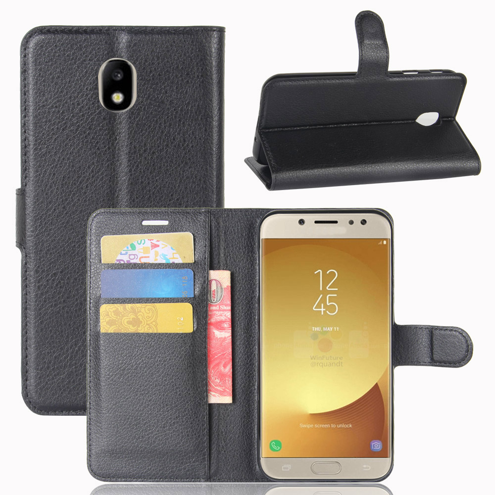 best website 87a0b 66d39 US $1.57 26% OFF Book Style PU Leather Case Cover for Samsung Galaxy J7 Pro  Flip Wallet Phone Bags Cases for Samsung J7 2017 European Version-in Flip  ...