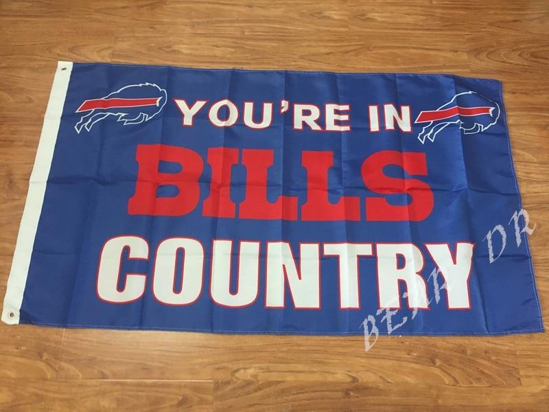 Free shipping Buffalo Bills Flag NFL National Football League 3ft x 5ft Polyester Banner Flying Custom flag sport Helmet