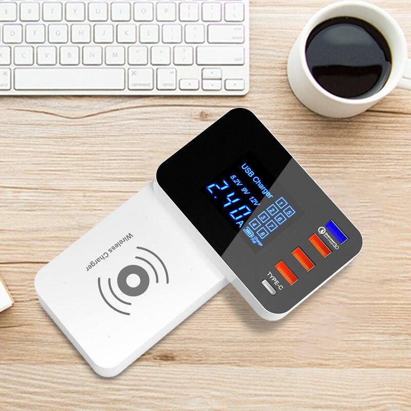 Thbelieve Type C chargeur de téléphone portable Charge rapide 4 ports USB chargeur mural Charge rapide 3.0 chargeur rapide sans fil 3.0 chargeurs de USB-C