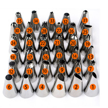 35pcs/Set  Make good cakes Stainless Steel Cake Decorating Icing Pastry Piping Nozzles Tips Set
