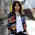 2016 New European and American style retro print round neck  jackets women summer coat Plus Size  cheap men jacket coat