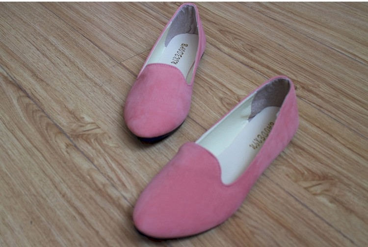 Hot selling large size 35-42 classic candy color ladies shoes fashion wild slip on flat shoes women casual summer shoes DT55 (24)