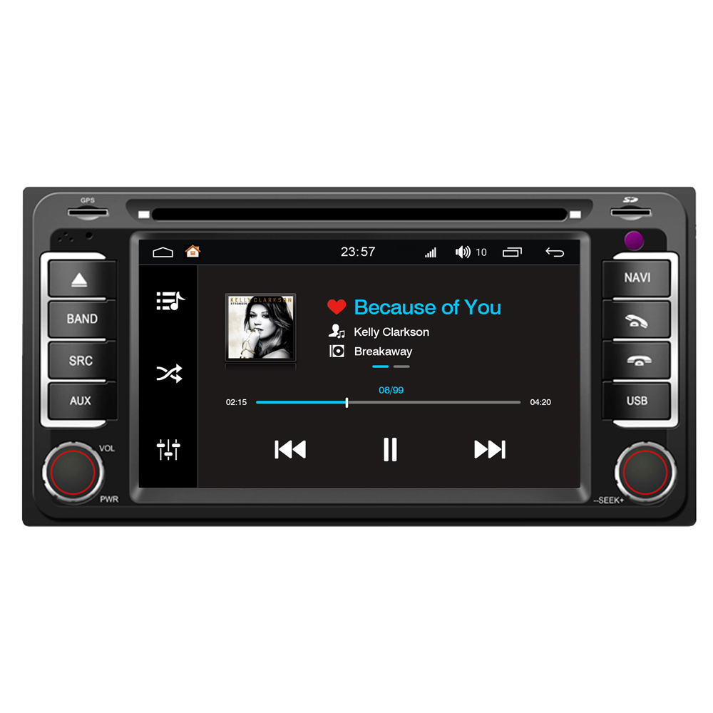 For Toyota Yaris Matrix Ipsum Previa Crown Android 8.0 Car Multimedia Player DVD Radio GPS PhoneLink 32G ROM + Reverse Camera