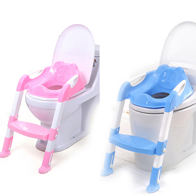 Baby Toilet Seat With Adjustable Ladder Infant Toilet Training Folding Seat Baby Potty Training Seat Children's Potty Dropship