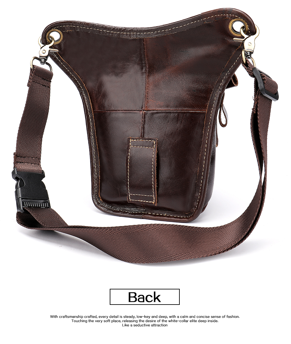 HTB1WKb.aizxK1Rjy1zkq6yHrVXa7 - WESTAL Genuine Leather leg bag in Waist Pack motorcycle Fanny Pack Belt Bags Phone Pouch Travel Male Small leg bag tactical 3237