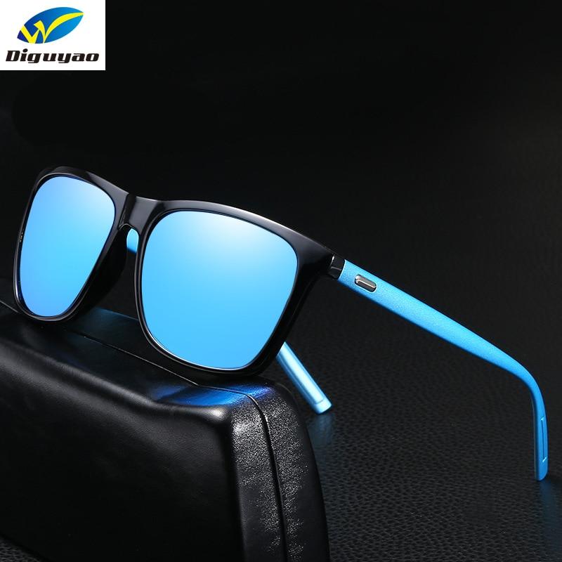 DIGUYAO Classic Men's HD Polarized Sunglasses Square Women Men Vintage Luxury Brand Designer Driving Fashion Sun Glasses UV400