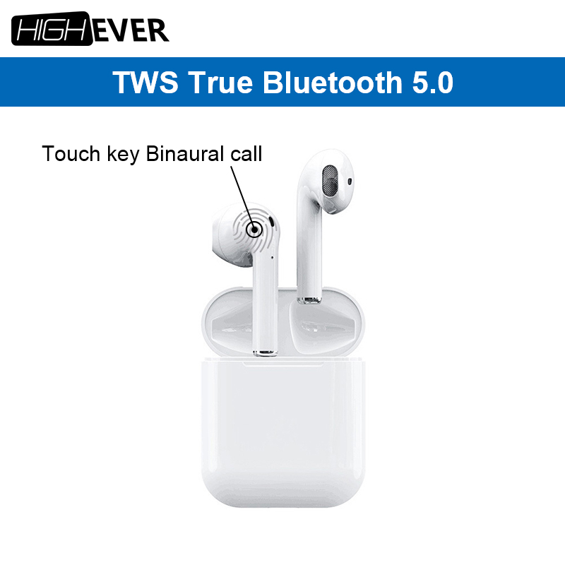 Highever i12 TWS 1:1 Air pods mini sans fil Bluetooth 5.0 toucher basse écouteurs pour oreille pod apple x xs max xiaomi PK i10 i9s tws