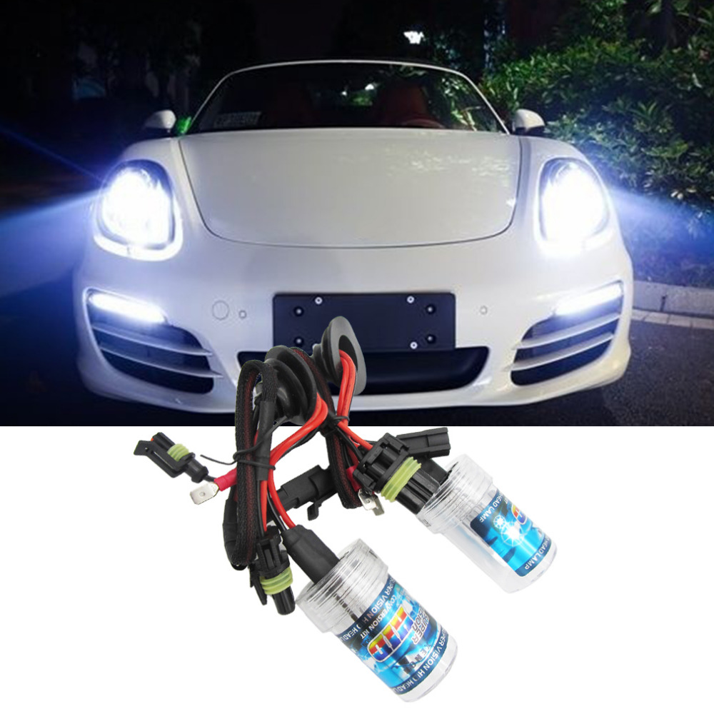 2017 High Quality 2017 Universal  35W HID Xenon Bulbs Lamp Headlight Slim Ballast Conversion Kit A Set slim hid xenon ballast 880 4300k headlight kit conversion bulbs 35w [c476]