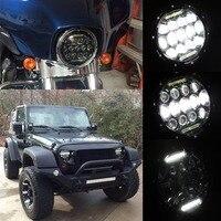 2x 7inch 75W LED Headlights Bulb Halo DRL For Jeep Wrangler JK CJ LJ For Hummer