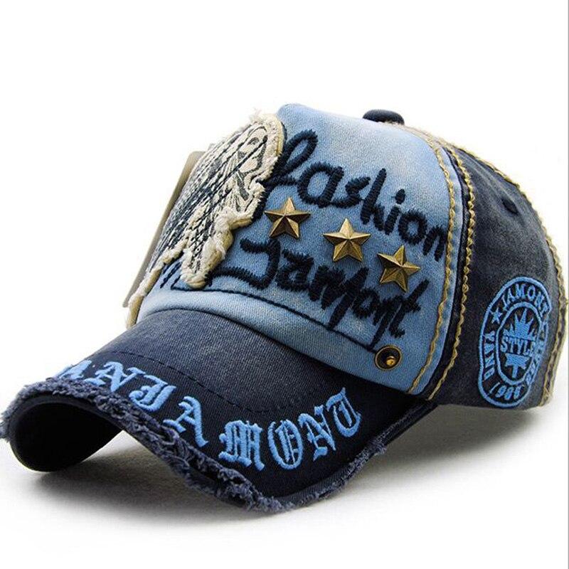 Prix pour 1 Pcs 2016 Unisexe Marque amateurs De Mode Casquette de baseball Sport rivet Snapback 100% Coton Chapeaux Pour Hommes Et Femmes 6 couleurs