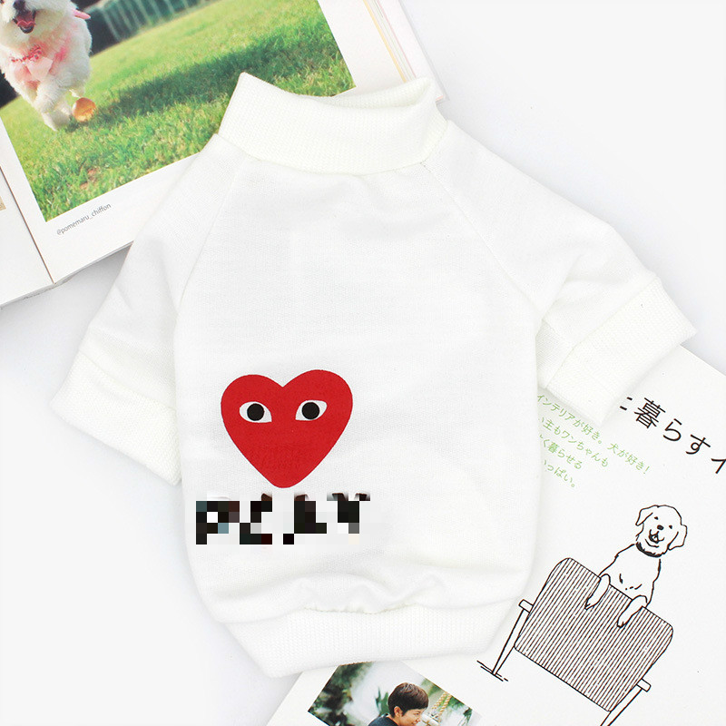 Spring and summer pet clothes printing love shirt Chihuahua T-shirt French Bulldog short-sleeved Schnauzer sweater clothes XXL