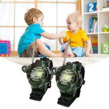 2pcs Wrist Watch Ear Tools Intercom Interphone Interactive Toys 7 In 1 Walkie Talkie Watch Camouflage Style Children Kids Toys