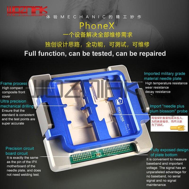 Pleine fonction D'essai Pour IPHONE X Testeur Ouvert la machine affichage tactile WIFI lampe Caméra corne Test Plate-Forme de Maintenance Machine