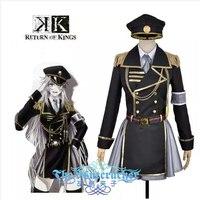 Аниме K возвращение королей костюмированная игра Неко, одежда для мальчиков в стиле военной формы, harujuku Хэллоуин вечерние полный набор 6in1 (