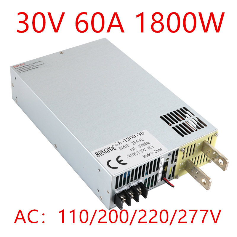 цена на 1PCS 1800W 30DC 0-30v power supply 30V 60A ac -dc 30V adjustable power AC-DC High-Power PSU 1800W
