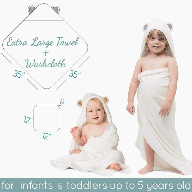 Premium Baby Bath Towel And Washcloth Set