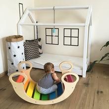 Детский деревянный стульчик сиденье для малыша дети играть тренажерный зал активности игрушки подъем лестницы образование кресло-качалка детская мебель украшение комнаты