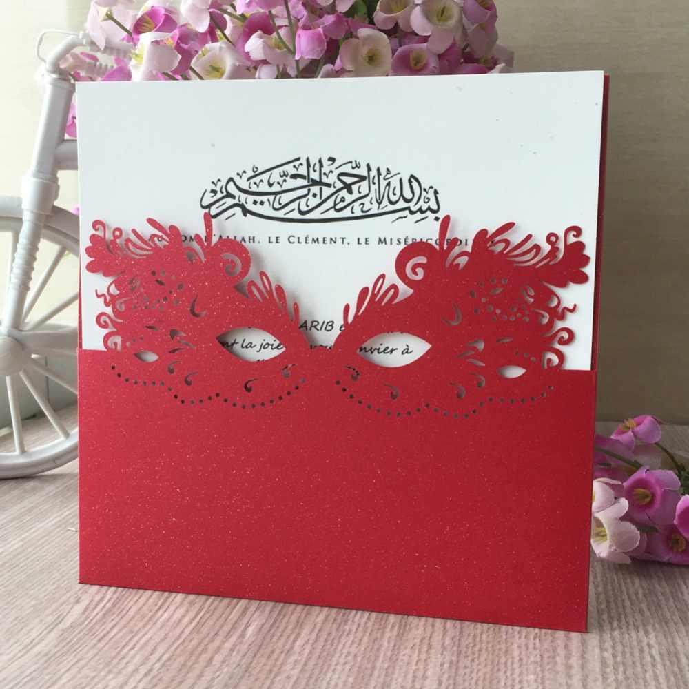 45 pièces perle papier Unique masque conception Initations cartes carnaval Invitations carte de voeux merci récompenses cadeau