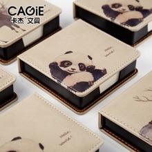 Cagie Творческие тенденции Материал Эсколар Kawaii Memo Pad кожаный Чехол Примечания офиса 150 листов бумаги, маркер