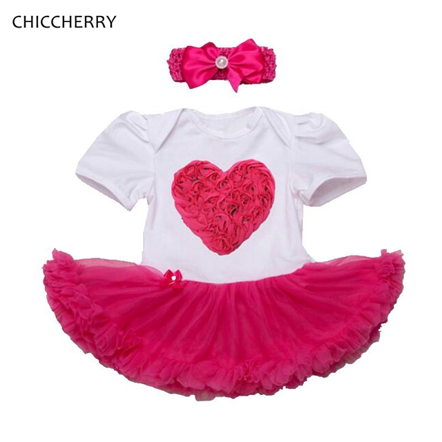 b80e82f473be Hot Pink Rose 3D LOVE Valentine s Day Outfit Toddler Lace Romper ...