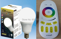 free shipping 5W E14 RGBW RGB+warm white/cool white 4 channel led bulb with remote, 2.4Ghz wifi compatible led bulb