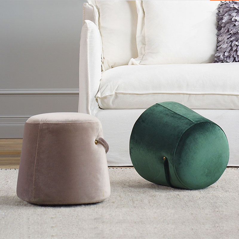 Fabric Stool Living Room Modern Kids Footstool ...