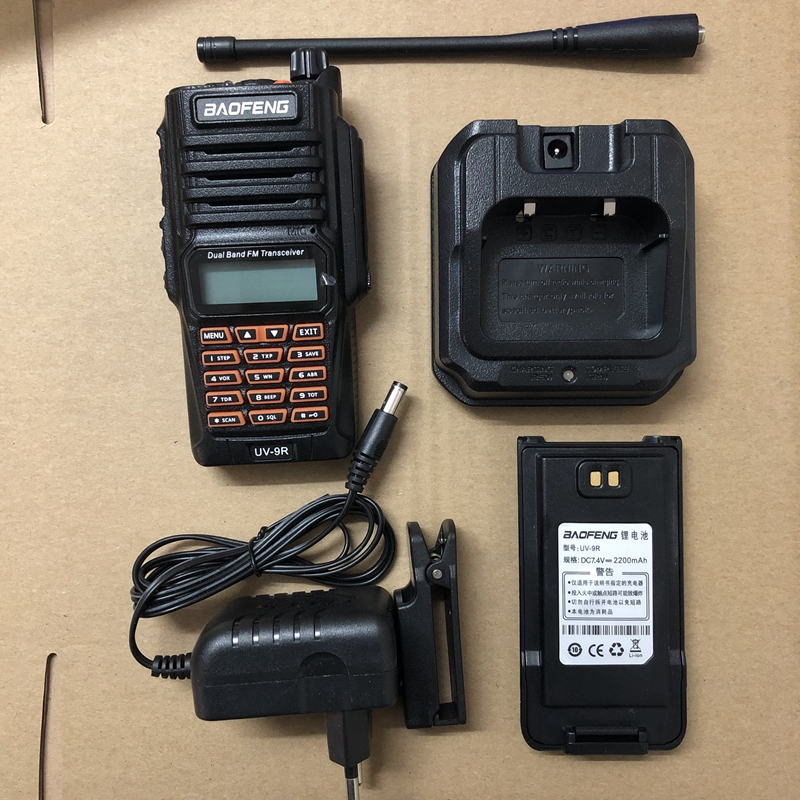 Image 5 - UV9R walkie talkie Baofeng 8W powerful dual band 2800mAh battery IP67 Waterproof CB Two Way Radio UV 9R+usb cable two way radio-in Walkie Talkie from Cellphones & Telecommunications