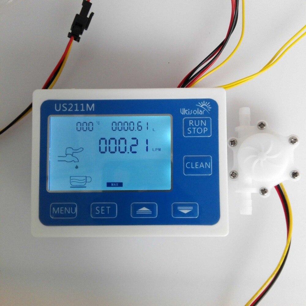 US211M ディスプレイ USN HS06PA 2 流量計積算流量測定 0.25 2.5L/最小範囲 6 ミリメートル OD ホース口 -