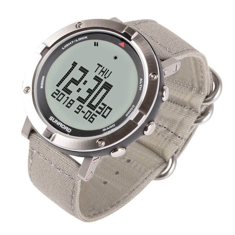 SUNROAD męski zegarek cyfrowy tętno kompas barometr wysokościomierz cyfrowy Clcoks Reloj Hombre 5ATM wodoodporny zegarek sportowy w Zegarki cyfrowe od Zegarki na  Grupa 3