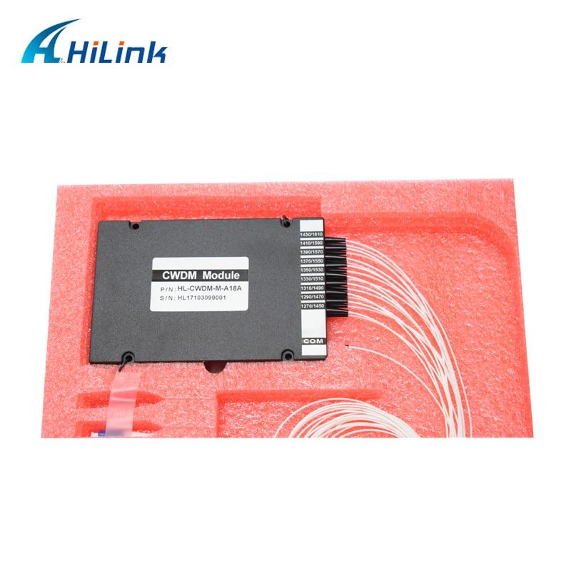 Free Shipping ABS Box Single Fiber LC UPC 1270nm 1610nm 18CH CWDM Demux