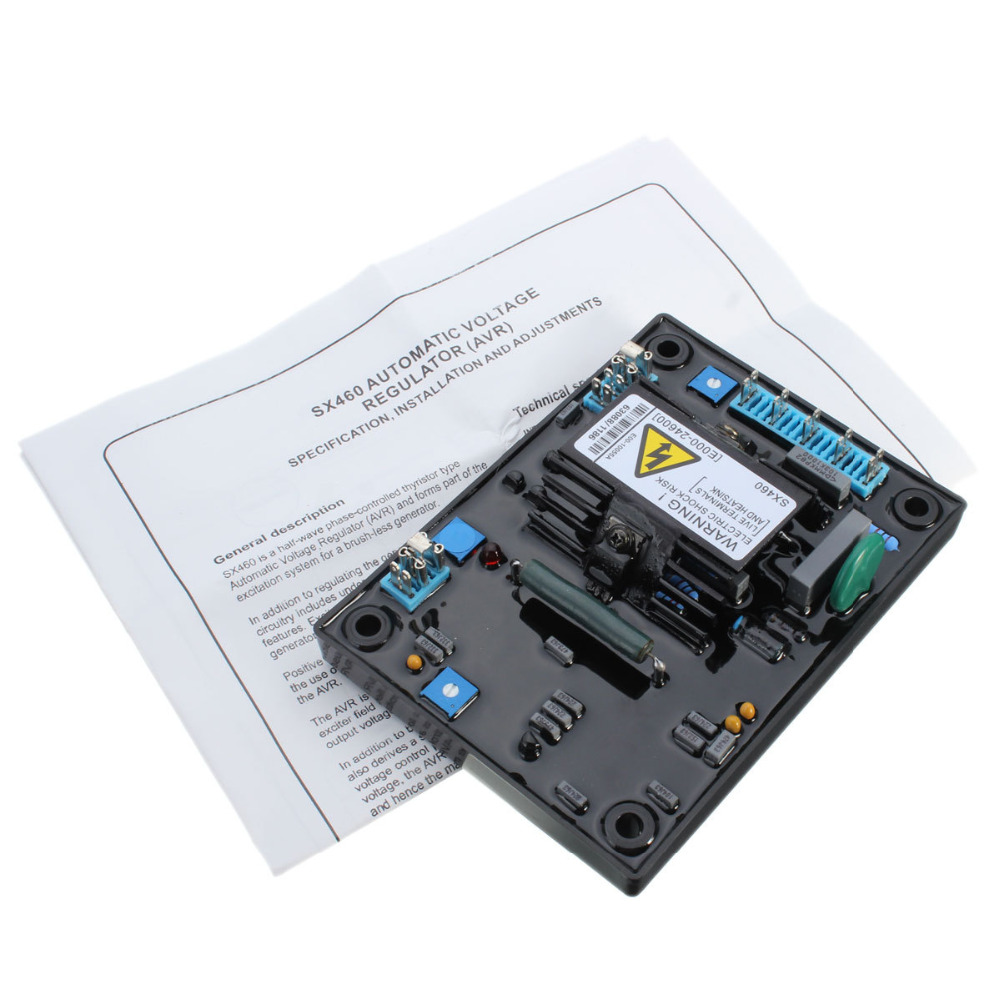AVR SX460 new Black Automatic Voltage Regulator AVR SX 460+high quality avr sx460 new black automatic voltage regulator avr sx 460 blue capacity free shipping tnt fedex dhl