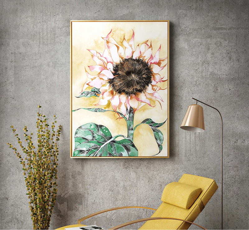 Trendy Inexperienced Plant Sunflower Poster Flower And Leaf Print Canvas Portray Dwelling Wall Artwork Stickers Ornament Can Be Personalized Portray & Calligraphy, Low-cost Portray & Calligraphy, Trendy Inexperienced Plant...