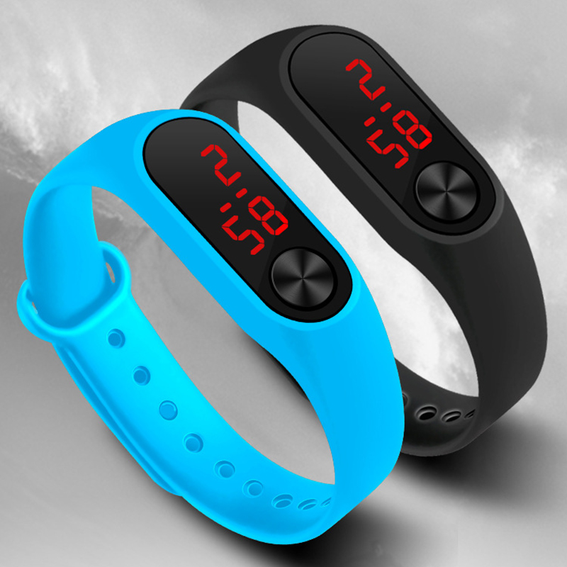 Sport Men Women Digital Bracelet Watches Man Ladies Fitness LED Wristband Watch Boys Girls Casual Electronic