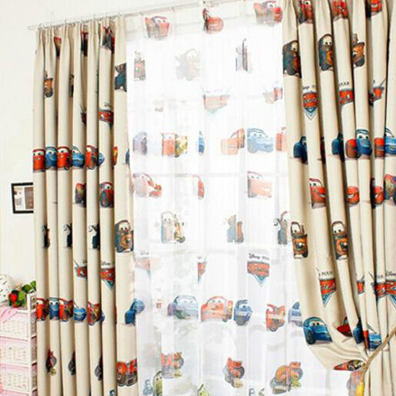 boys cars curtains and tulle blackout drapes cloth nursery baby room curtains draperie french blinds for kids bay window p228b in curtains from home