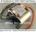 R Transformador 12AX7 12AU7 Tubo Amplificadores de Entrada 0-115 V-115 V Saída 0-180V-250V-330V (120mA) 0-6.3 V (1A) 0-6.3 (1A) 80 W