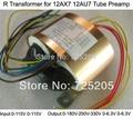 R Transformer 12AX7 12AU7 Tube Preamps Input 0-115V -115V Output 0-180V-250V-330V(120mA)0-6.3V(1A)0-6.3 (1A) 80W