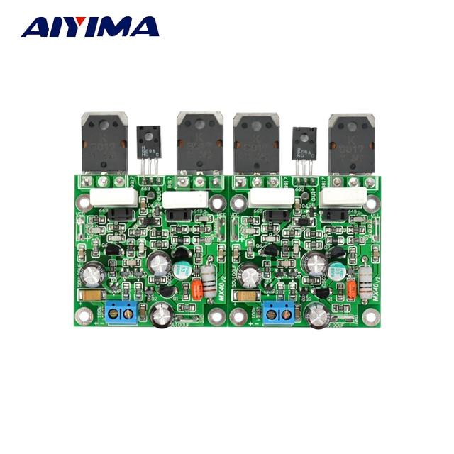 Aiyima 2 pièces MX40 Double Canal Stéréo amplificateur de Puissance Audio Amplificador 50 W 8R
