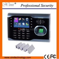 Smart ID Card And Fingerprint Time Attendance Office Device 125KHz TCP IP Color TFT Screen Support
