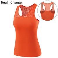 HEAL ORANGE Women Dry Fit Shirts Yoga Shirt Yoga Top Women S Sports Shirt Female Fitness