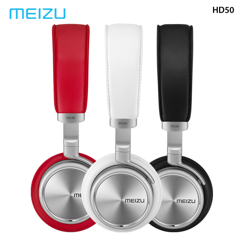 Original Meizu HD50 Headphones HIFI Headset Stereo Metal earphone wired Earbuds With Microphone For Meizu Xiaomi Android Phones title=