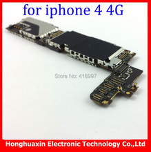 3pcs/lot free shipping wholesale price original unlocked mainboard for iphone 4 4g 16GB system board Europea version Motherboard