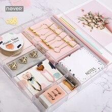 купить Never Pink Series Stationery Set Band Clips Memo Pad Pencil Bookmark Office Accessories Gift Box Packing School Stationery Sets по цене 1657.61 рублей