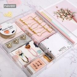 Set de papelería Never Pink Series clips de venda Bloc de notas marcador de lápices accesorios de oficina caja de regalo de embalaje juegos de papelería escolar