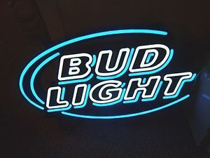 Bud Light Neon Sign Glass Neon Light Sign