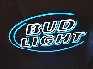 Bud Light Enseigne Au Néon En Verre Néon Lumière Signe