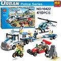 410 unids Urbano NUEVO Helicóptero de la Fuerza de Policía de La Ciudad Modelo de Camión de Juguete Bloque de Construcción Compatibles niños educación Juguetes Clásicos Lepin