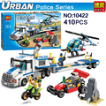 410pcs NEW Urban City Police Force Helicopter Truck Model Building Block Toy Compatible kids education Classic Toys Lepin