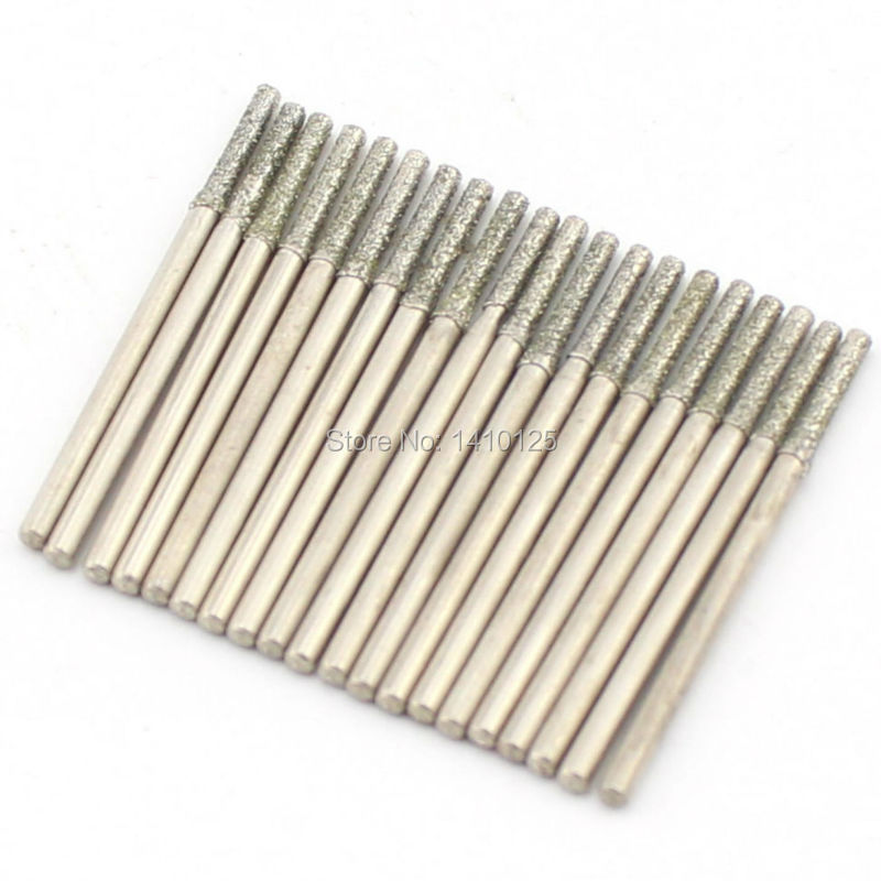20 Pcs Diamètre 2mm Galvanoplastie Diamant Enduit Scie Trou Forage - Foret - Photo 5